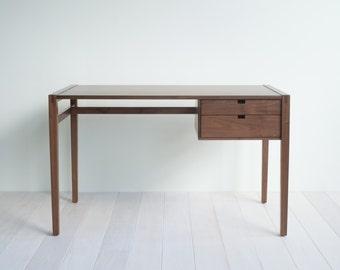 Garfield Desk - Solid Walnut - Two Drawers