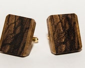 Wooden cuff links zebrano with maple