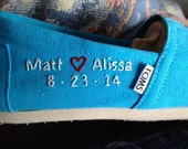 CUSTOM Wedding Embroidered TOMS