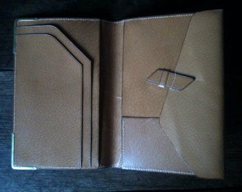 Vintage English Pigskin Leather Wallet circa 1970-80's / English Shop