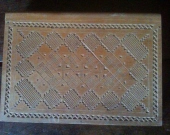 Vintage French wood playing card cigarette cigar box circa 1960's / English Shop