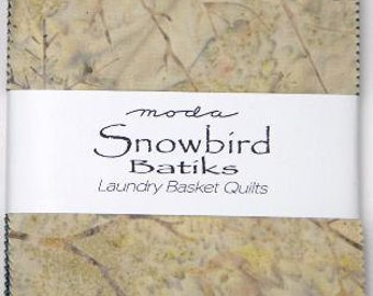 Snowbird Batiks Charm Pack by Laundry Basket Quilts for Moda