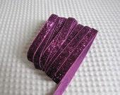 3 Yards Magenta Glitter Ribbon 3/8 inch - 03