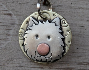 Medium Dog Tag - Dog ID Tag - Pet Tag - West Highland Terrier- Westie