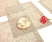 Elegant wedding table mat very chic dining table décor natural feeling fabric  modern table place mat