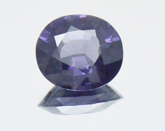 3.24ct Deep Blue BURMA SPINEL from Mogok mine VVS grade certified gem