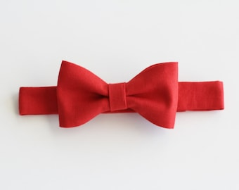 Future Gentleman Solid Red Baby Bow Tie Baby Accessory/ Photography Prop/ Christmas/ Holiday/ Photo Shoot