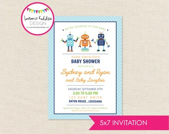 DIY, Robots Baby Shower INVITATION ONLY