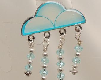 Semi-Vintage Rain Cloud Pin
