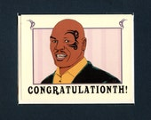 MIKE TYSON CONGRATULATIONS - Mike Tyson - Funny Congratulations Card - Funny Graduation Card - Funny Wedding Card - Mike Tyson Card