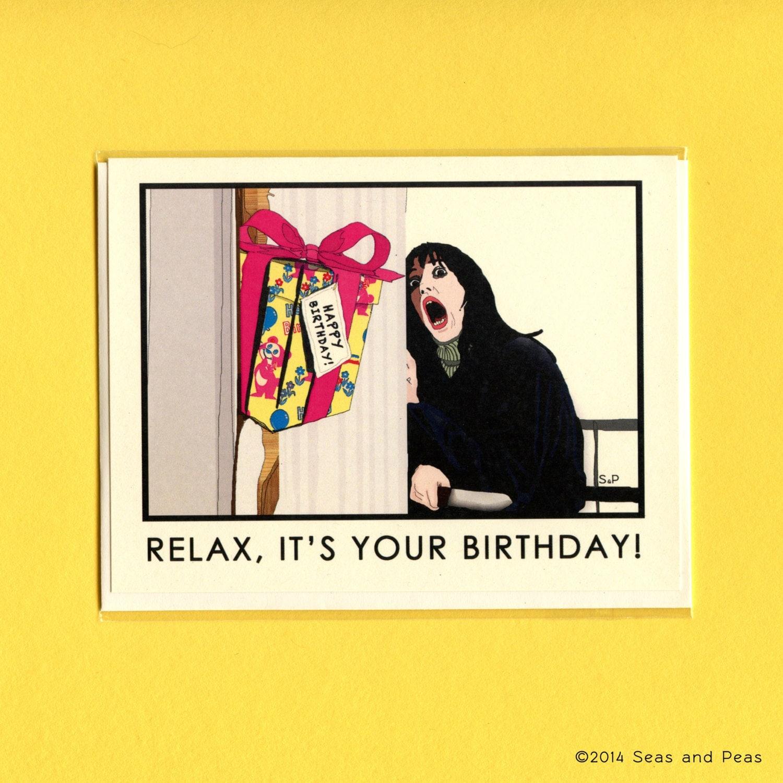 THE SHINING BIRTHDAY Card The Shining Funny By Seasandpeas