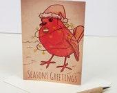 Rockin Robin Christmas Card