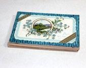 25 Antique Greeting Unused Postcards - Vintage Unused Blank Postcards