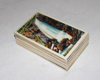 100 Vintage Virginia Unused Postcards Blank -  Unique Travel Wedding Guest Book, Reception Decor, Travel Journal Supplies