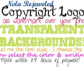 Custom Digital Web Copyright Watermark Image Text Logo Graphic Blog