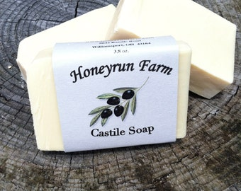 Castile Soap - natural soap made with olive oil and beeswax