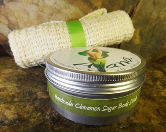 Sweet Cinnamon Handmade Fresh Body Scrub - 200gm Tin - Flat Rate Shipping Now Available!
