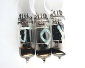 Custom - Vacuum Tube Christmas Ornament Set Crystal JOY