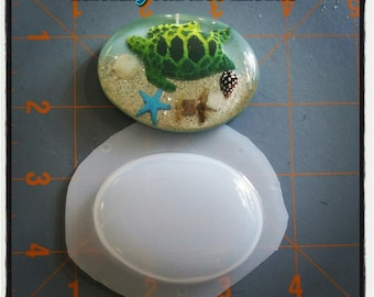 Large Oval Flexible Plastic Resin Mold