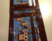 Duct Tape Wallet, Teen Girl Wallet, Womens Duct Tape Wallets, Womens Card Holder, Fun Gifts for Girls, Fun Gifts for Friends, Owl Duct Tape