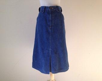 Stetson Denim A-Line Skirt XS S