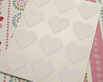 108 Heart Sticker Seals White 3/4 inch