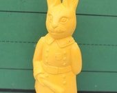Vintage Irwin Plastic/Celluloid Police Rabbit, Easter Golden Yellow, ONE