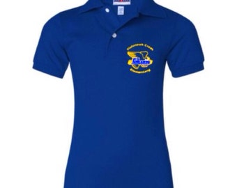 FishHawk Creek Elementary Uniform Youth Jersey Polo with SpotShield 4 Colors to Choose From