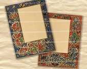 Medieval Illuminated Manuscript Pages Full Size with Borders Scrolls Frames Patterns for Wedding Invitations Letters Backgrounds Parties 533