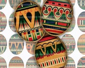 Egyptian Ovals Digital Collage Sheet for DIY Jewelry Pendants Ancient Egypt 30 x 40 Eggs Cabochons Designs Temple Pyramid Wall Patterns 583