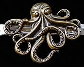 Octopus / Cthulu Brass Barrette