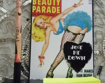 Jot It Down Pinup Decorative Plaque Pen and Note Holder