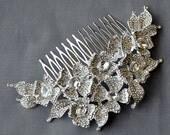Bridal Headpiece Tiara Headband Rhinestone Hair Comb Accessory Wedding Jewelry Crystal Flower Side Tiara CM076LX