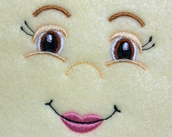 Doll Face Girl with Full Lips Embroidery Machine Design