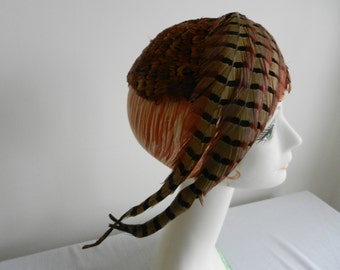 Vintage Feather Hat by Raymond Hudd of Chicago