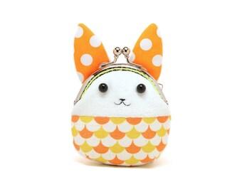 Little orange showtime rabbit mini coin purse