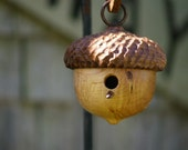 Woodland Acorn Birdhouse, Decorative Birdhouse, Mothers Day Gift, Rustic Decor, Naturalist