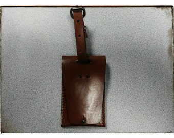 The Feyd Rautha:  Leather Luggage Tag
