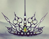 Green Gothique - Black Filigree Gothic Tiara - Evil Queen Costume Evil Fairy Costume Green Fairy Absinthe Gothic Crown