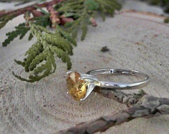 Golden Topaz 925 Sterling Silver Ring                      CC-40033