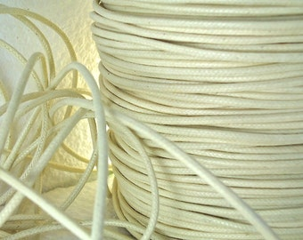 6yds Cord Waxed Cotton Light Brown Ivory String  2mm cord Lace Jewelry Cord Macrame String for Bracelet and Necklace
