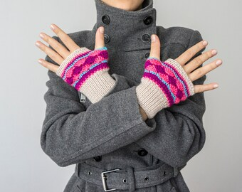 Multicolor Fingerless gloves Crochet, Arm Warmers,Crochet fingerless gloves,Handmade Crocheted Gloves For Her Fashion Accessories