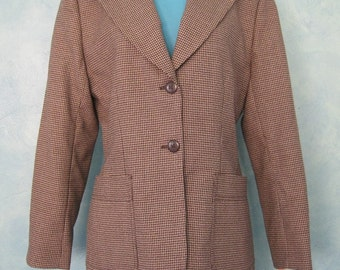 Giorgio Sant' Angelo Jacket - Houndstooth Blazer - English Style Jacket - Exquisite Detail