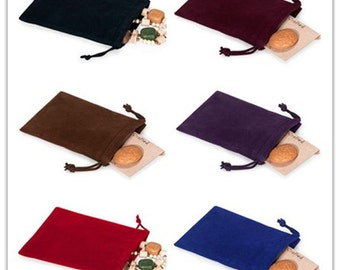 Jewelry Pouches Velour Bags Velvet Gift Bags Velveteen Favor Bags Pack of 25 PCS 10 Colors Available