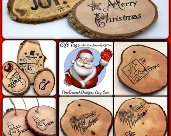 SPECIAL HOLIDAY SET Reclaimed Branch Christmas Tags Woodland Decor Eco Friendly