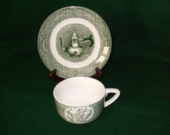 """Royal China """"Old Curiosity Shop"""" Cup and Saucer"""