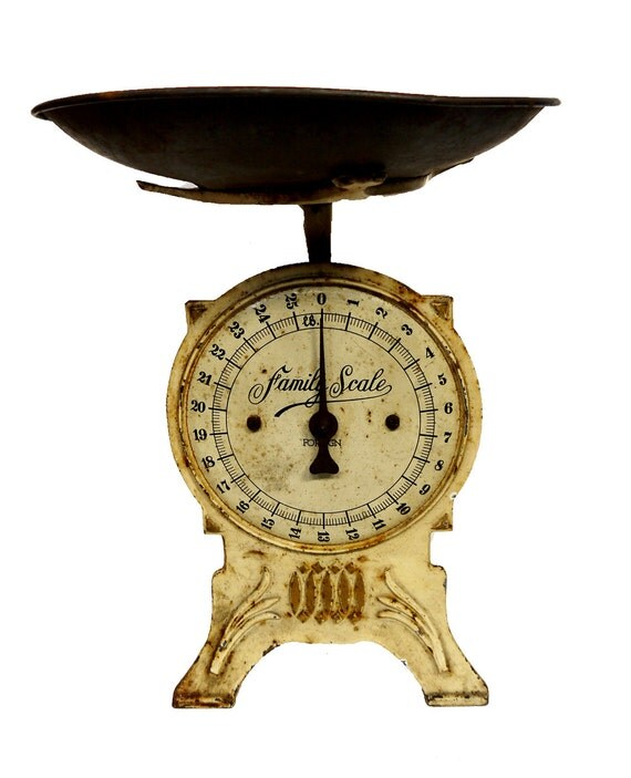 Antique Kitchen Scale: RESERVED FOR J Antique Kitchen Scales Weighing Scales C.1910