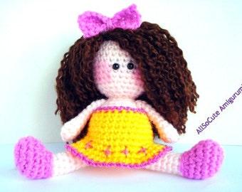 Pattern, Amigurumi Doll Pattern, Amigurumi Girl Pattern, Crochet doll pattern - Tutorial