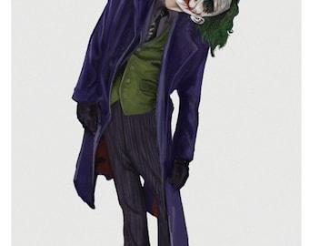 Dark Knight Joker 11x17 Digital print (Diary of a Madman)