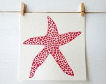 Beach Art - Coral - Starfish